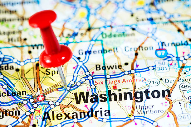 Royalty Free Pushpin In Map Washington Dc Pictures, Images and Stock ...