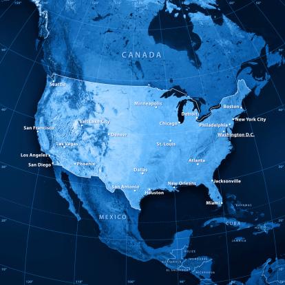 186815169 istock photo USA Cities Topographic Map 182912819