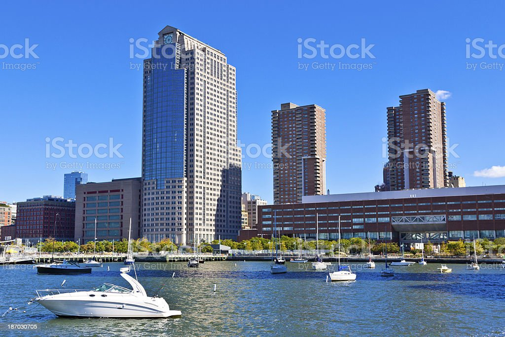 Citigroup Buildings and Downtown Manhattan Skyline, New York. stock photo