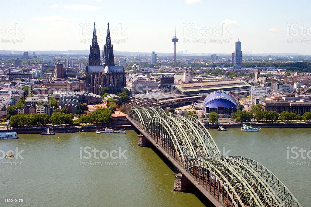 Citiscape of Cologne royalty-free stock photo