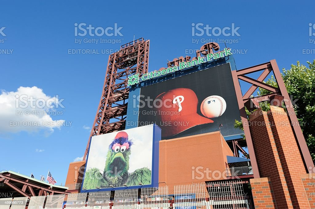Citizens Bank Park sign stock photo