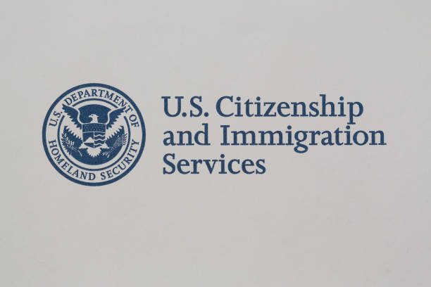 U.S. Citizenship and Immigration Logo Logo of US Citizenship and Immigration Services. department of homeland security stock pictures, royalty-free photos & images