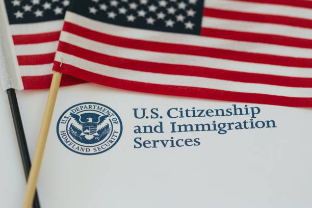 Citizenship and immigration paperworkf US flag and citizenship and immigration paperwork american culture stock pictures, royalty-free photos & images