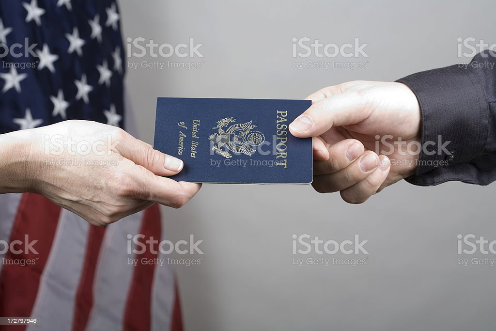 US citizenship royalty-free stock photo