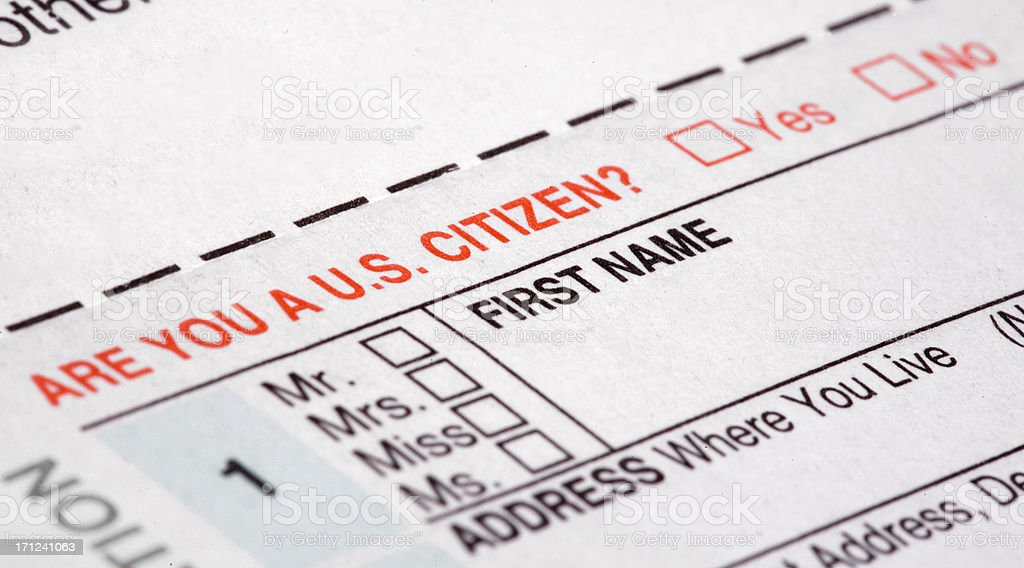 Citizenship requirement stock photo
