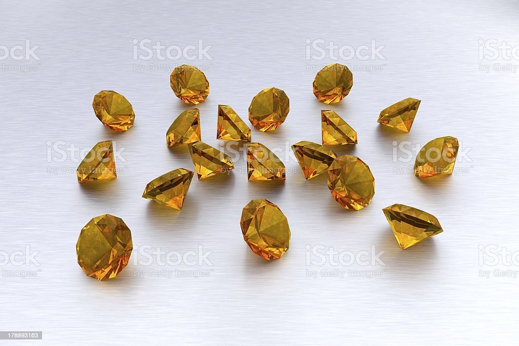 3D Citrine - 18 Gems royalty-free stock photo