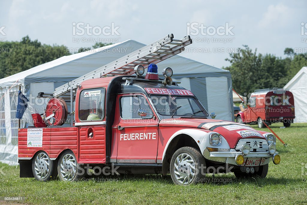 Citroën 2CV Camion de pompiers - Photo