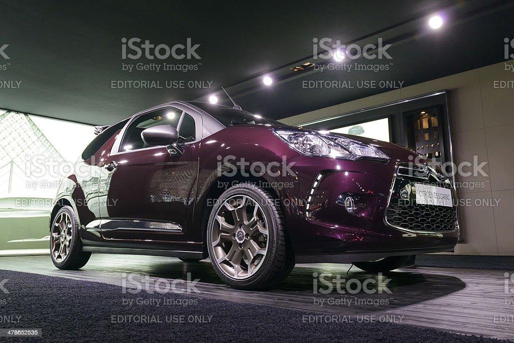 Citroen DS3 Cabrio royalty-free stock photo