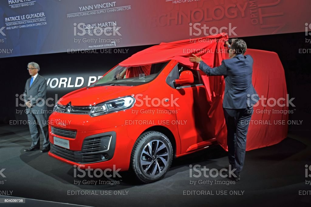 Citroen Jumpy on the international premiere stock photo