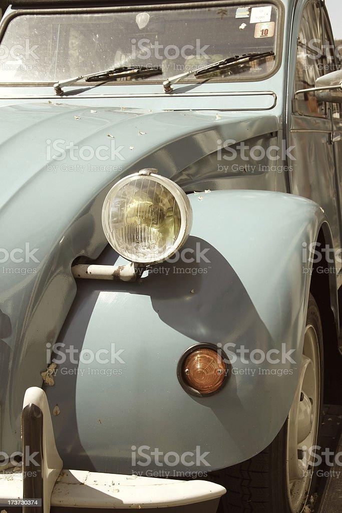 Citroën 2CV in antique blue stock photo