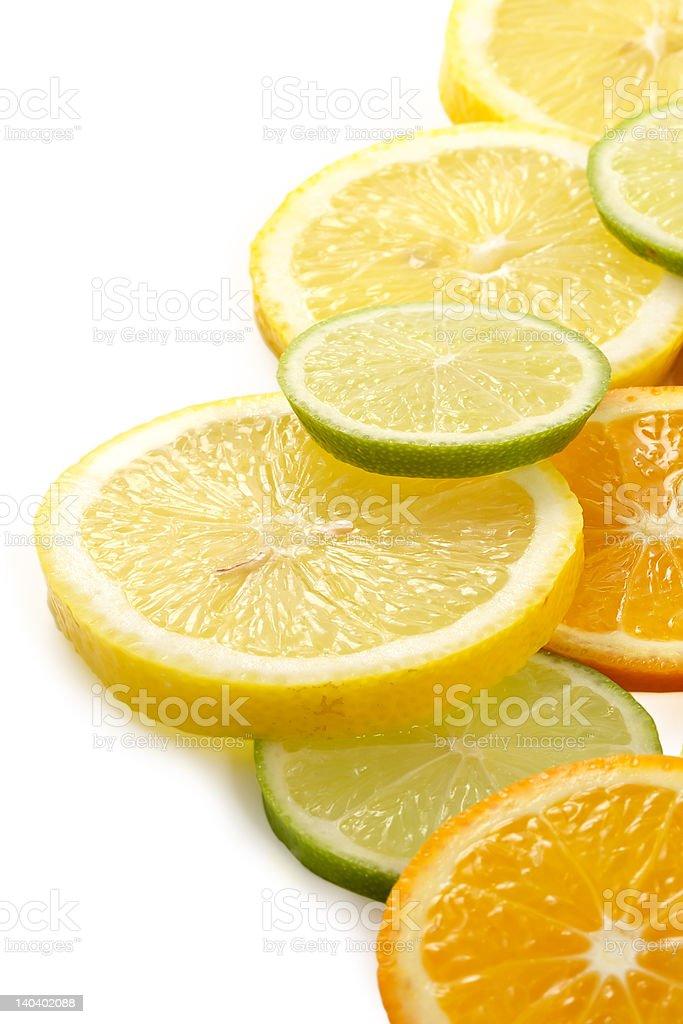 Citron allsorts-lime, lemon, tangerine royalty-free stock photo