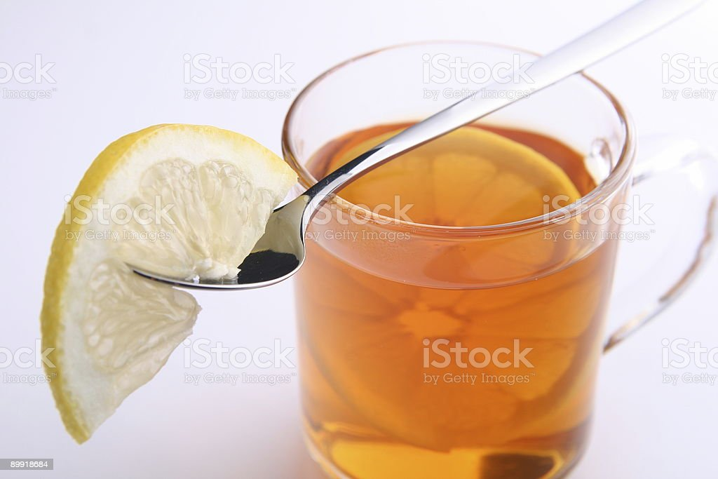 Citron Tea with Spoon Close-Up royalty-free stock photo
