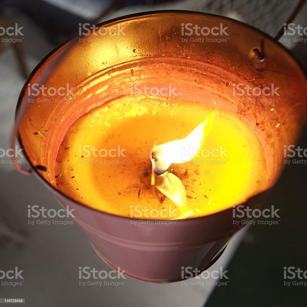 Citronella candle stock photo