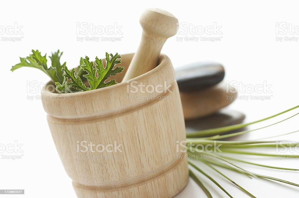Citronella in spa setting stock photo