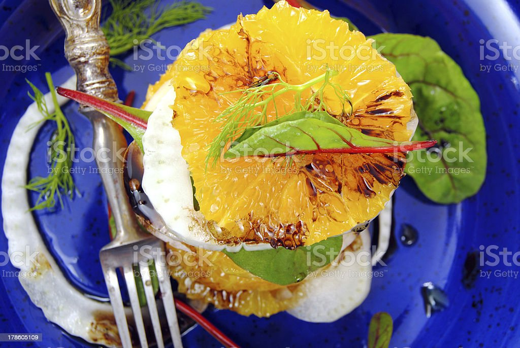 Citrus and fennel salad royalty-free stock photo