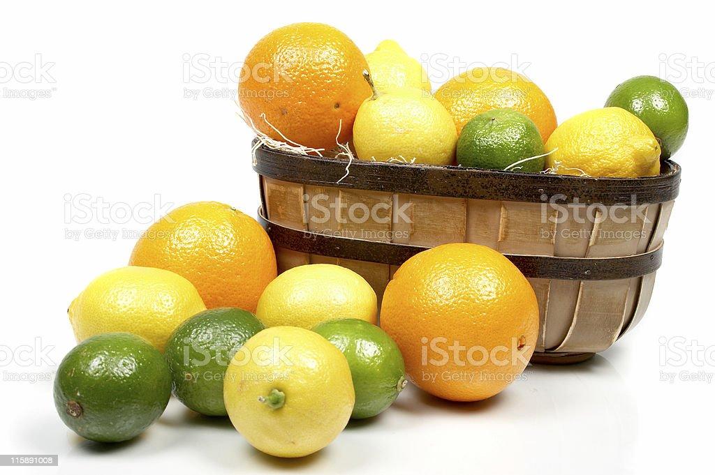 Citrus Basket royalty-free stock photo