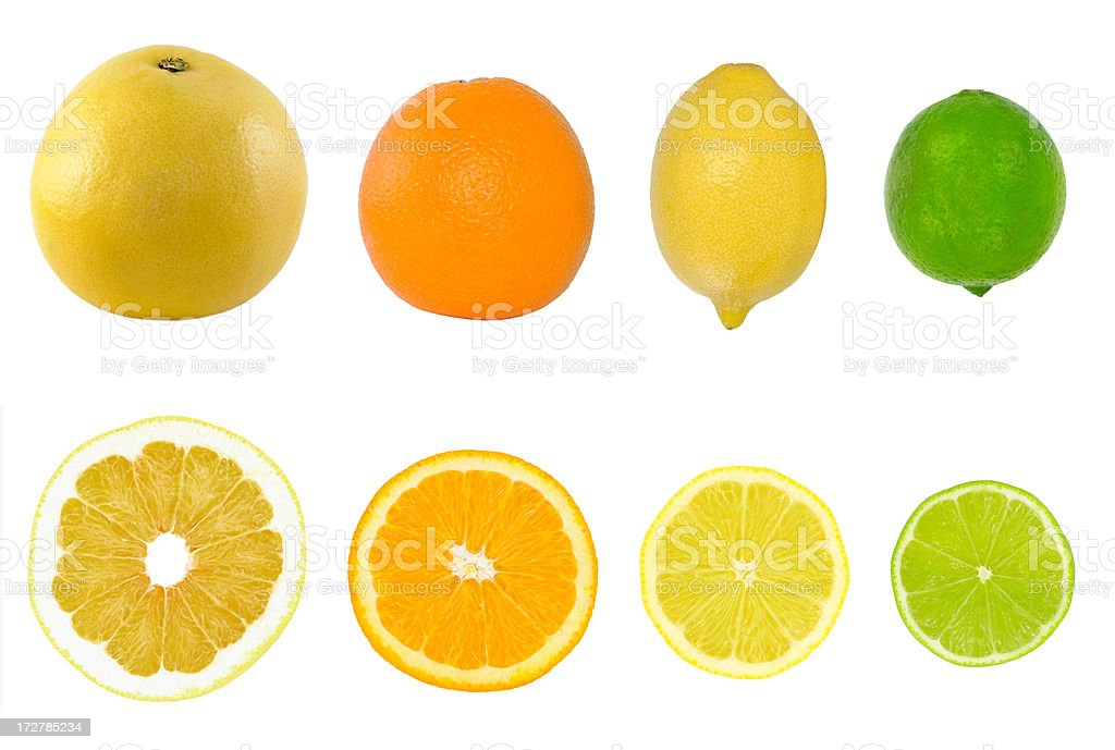Citrus collection stock photo