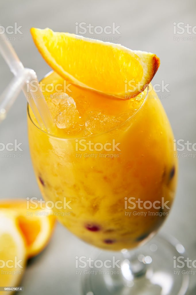 Citrus Drink with Berries royalty-free stock photo