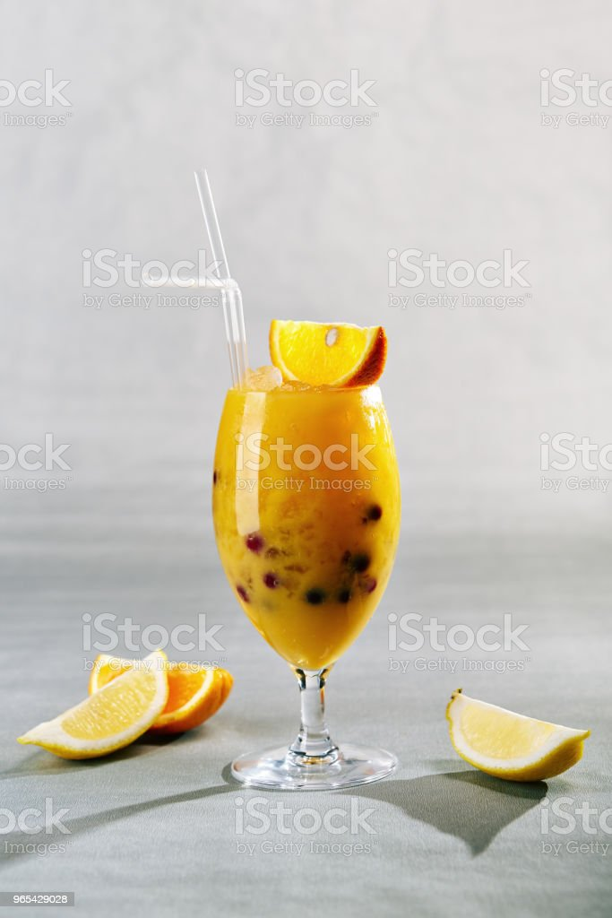 Citrus Drink with Berries zbiór zdjęć royalty-free