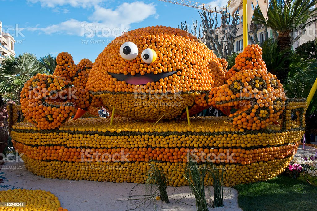 Citrus Exhibition at the Lemon Festival of Menton stock photo