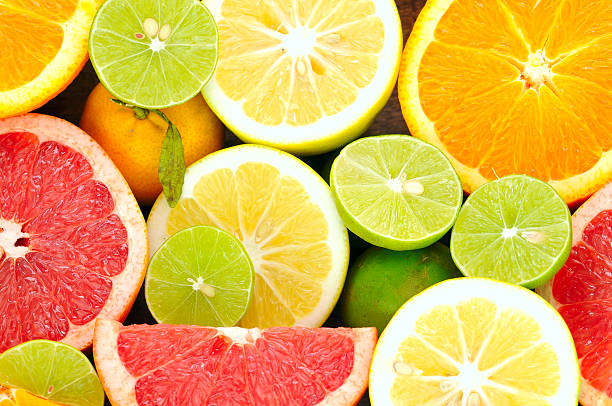 Citrus fresh fruits stock photo