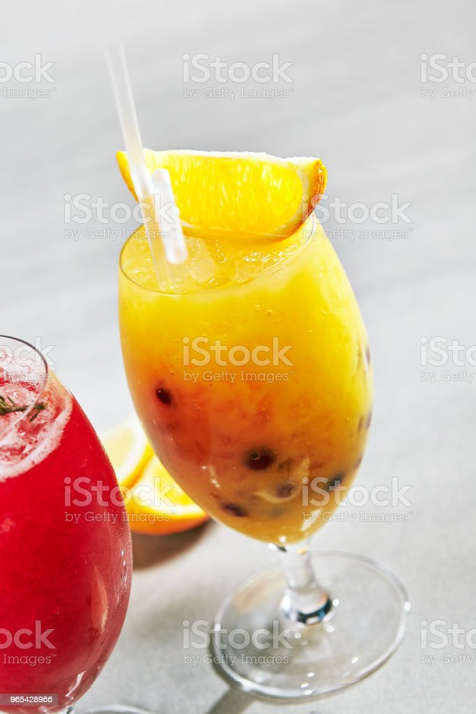 Citrus Frozen Drink royalty-free stock photo