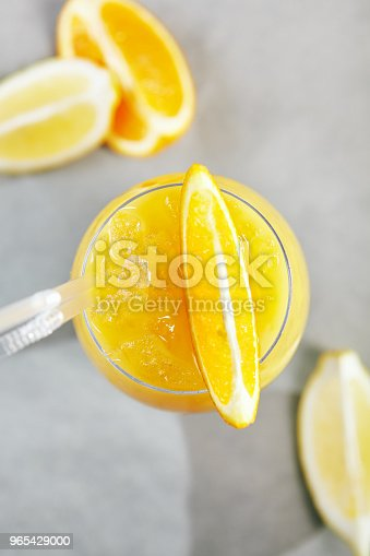 Citrus Frozen Drink Stock Photo & More Pictures of Above