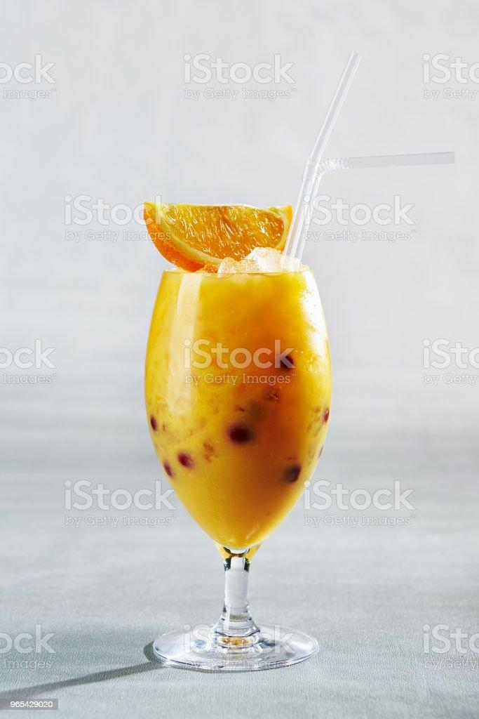 Citrus Frozen Drink royalty-free stock photo