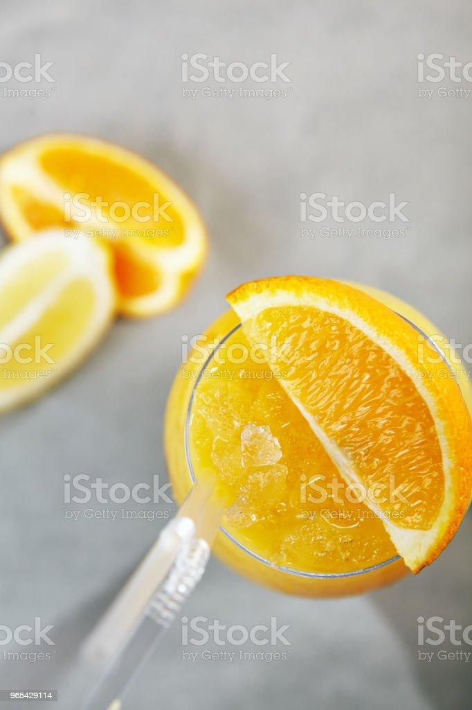 Citrus Frozen Drink zbiór zdjęć royalty-free