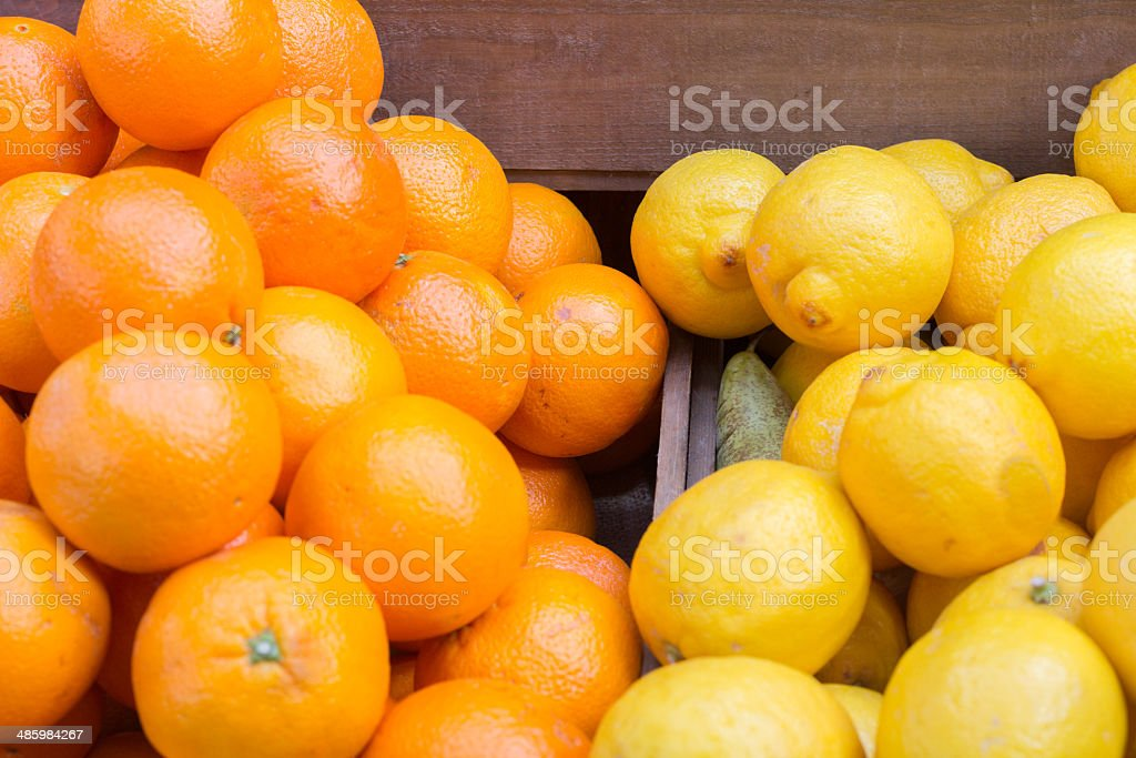 Citrus Fruit in Borough Market, London royalty-free stock photo