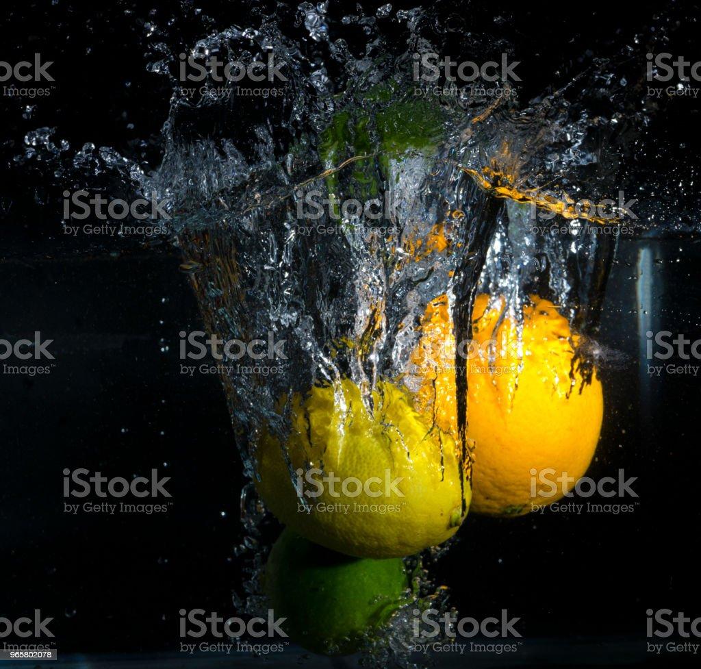 Citrusvruchten Splash - Royalty-free Bel - Vloeistof Stockfoto