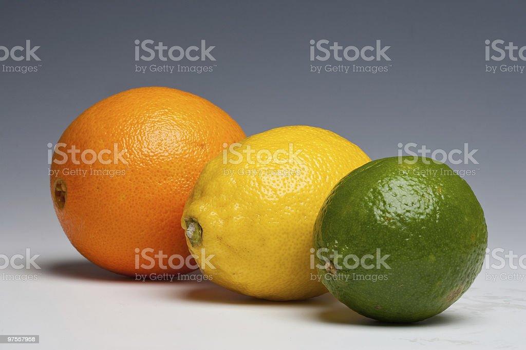 Citrus fruits orange lemon lime royalty-free stock photo