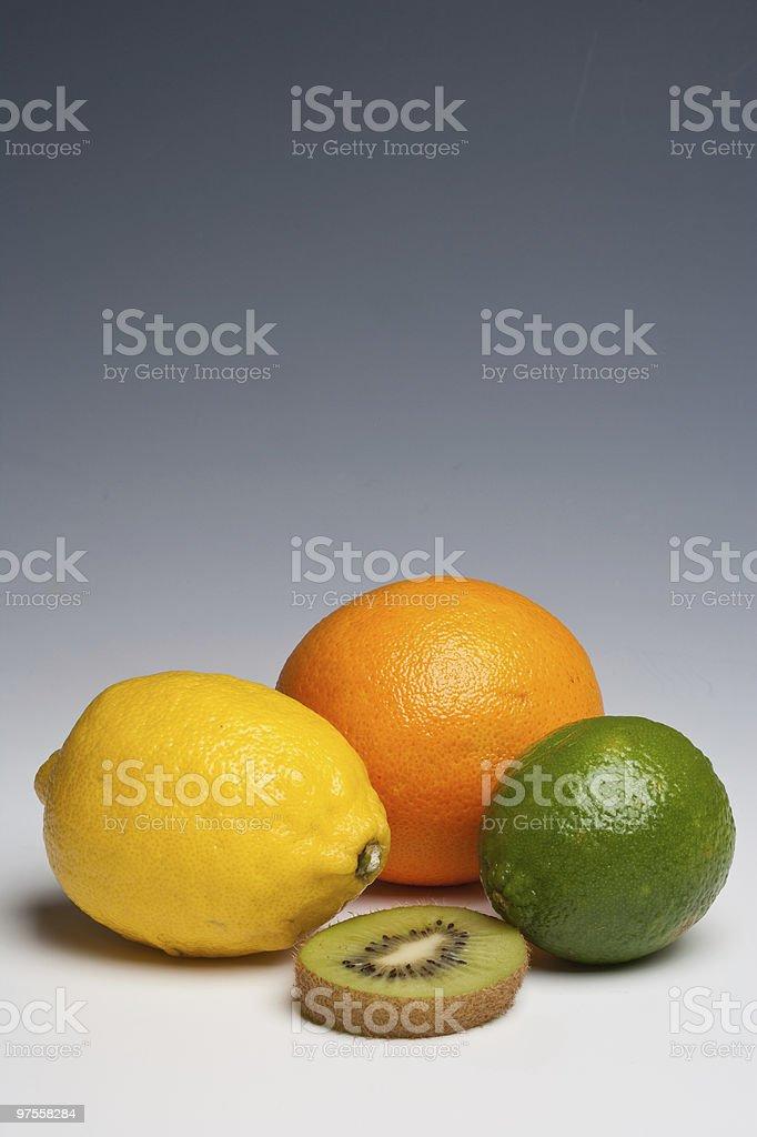 Citrus fruits orange citron et citron vert photo libre de droits