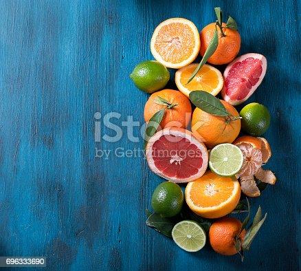 Citrus fruits, vitamins concept, refreshment, healthy fruits, vegan eating
