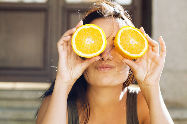 Citrus fun stock photo