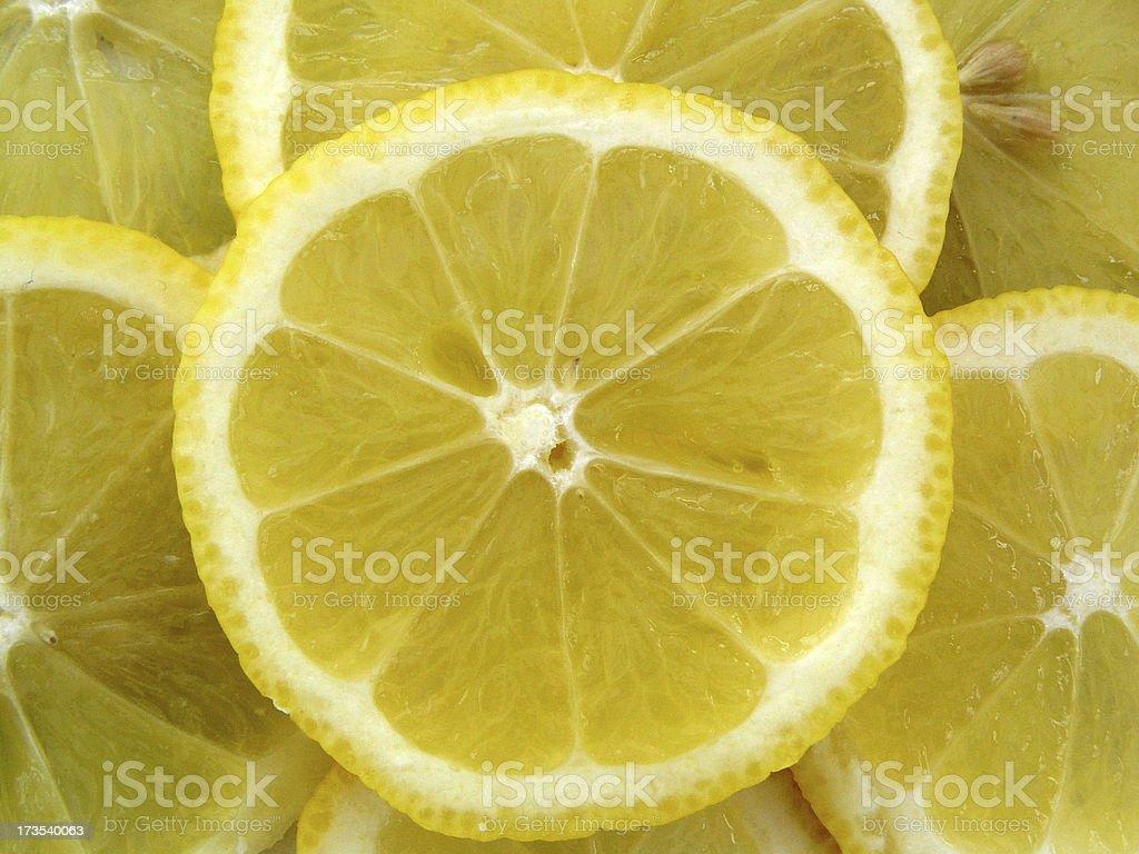 Citrus Lemon Slices royalty-free stock photo