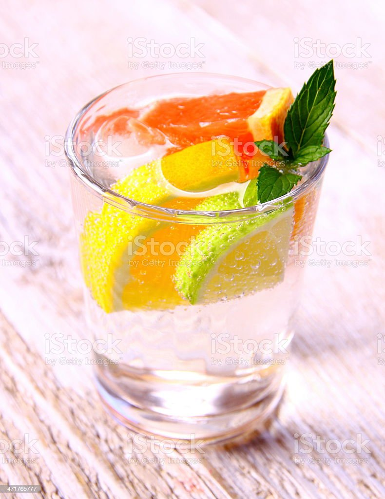 Citrus lemonade from grapefruit, lemon and lime royalty-free stock photo
