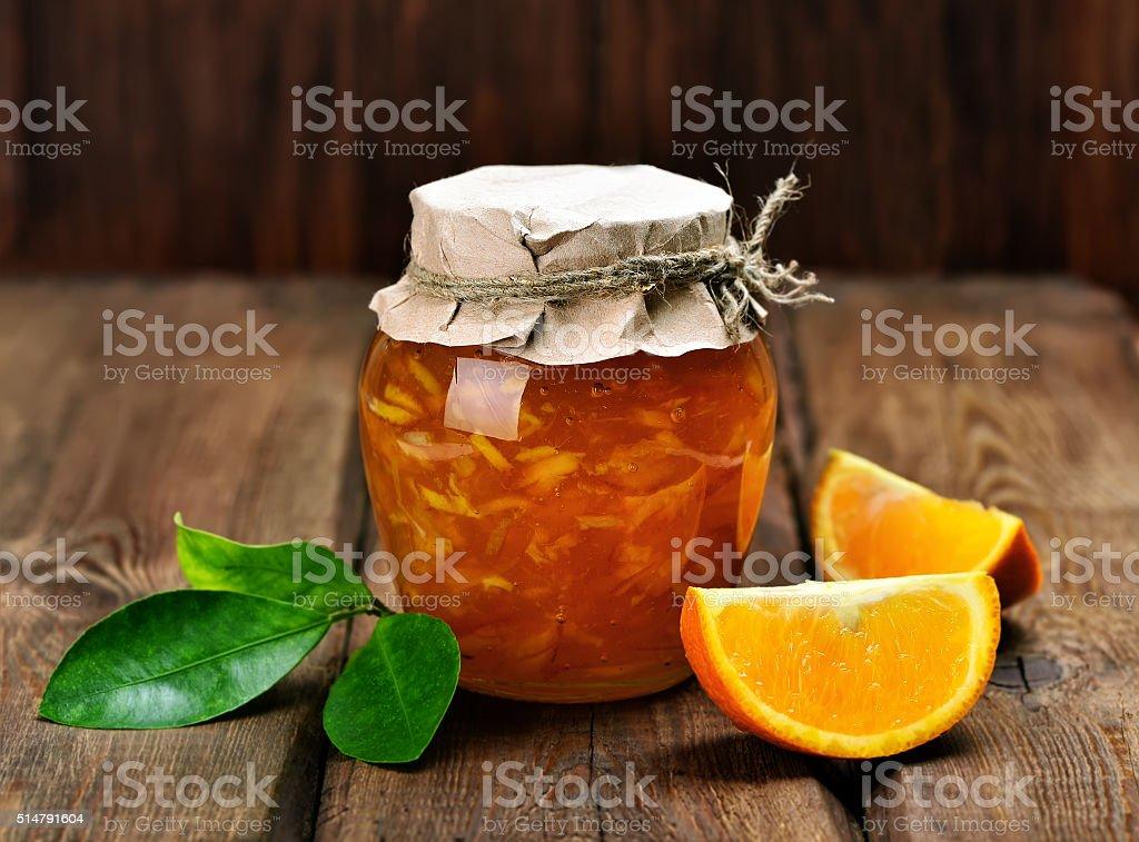 Citrus orange jam stock photo
