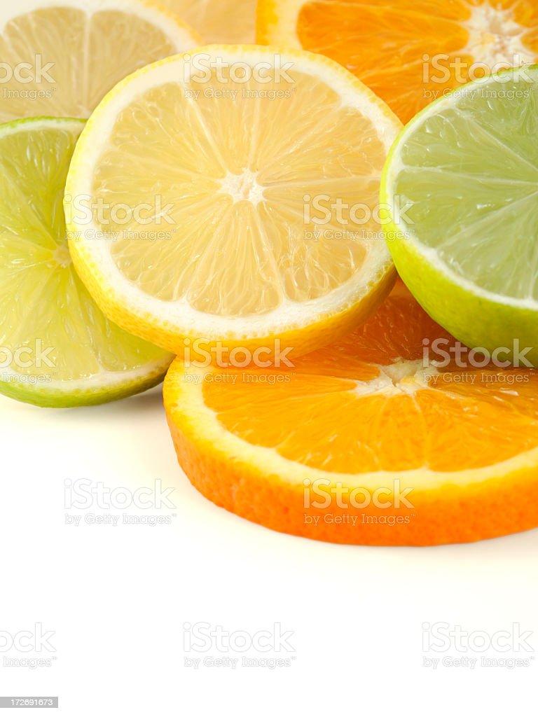 Citrus slices royalty-free stock photo