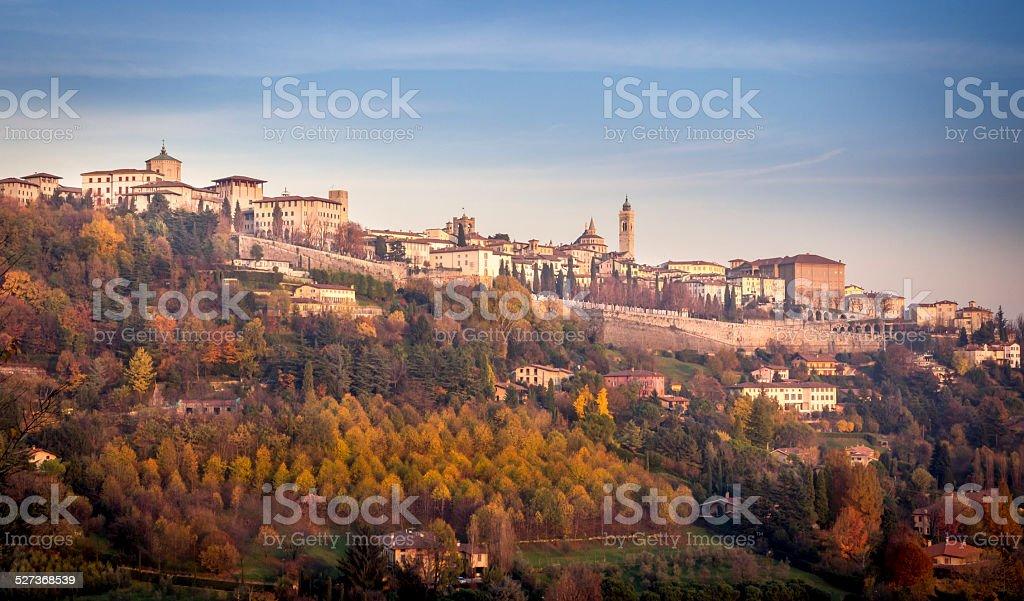 Città alta di Bergamo stock photo