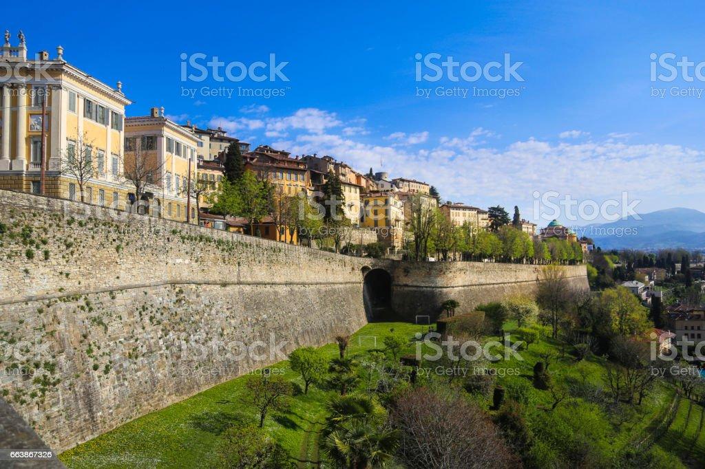 Citta Alta Bergamo - foto de stock