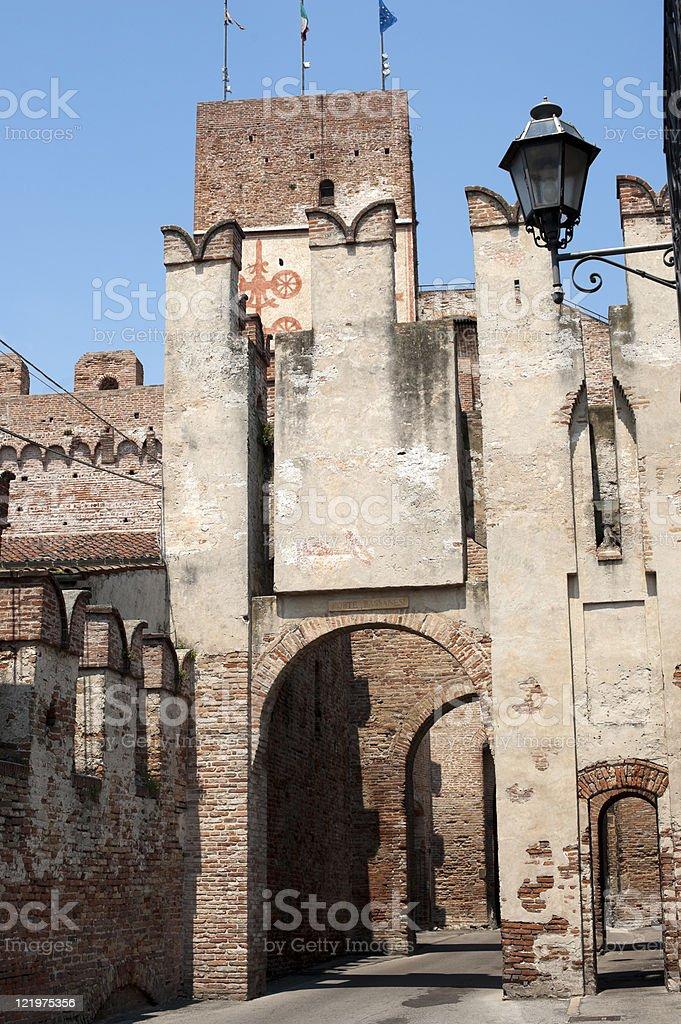 Cittadella (Padova, Veneto, Italy) - Ancient gate royalty-free stock photo
