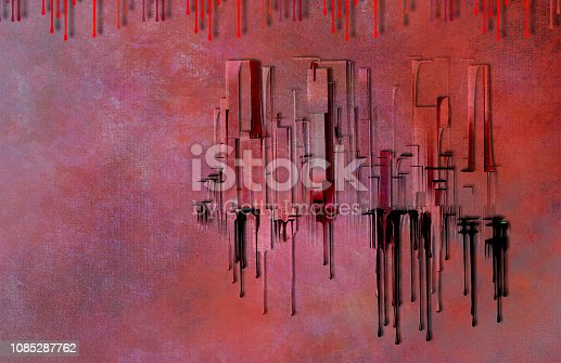 istock City Abstract in 1950's Style with Twist 1085287762