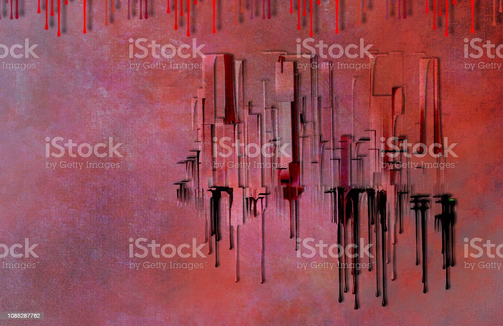 City Abstract in 1950's Style with Twist stock photo