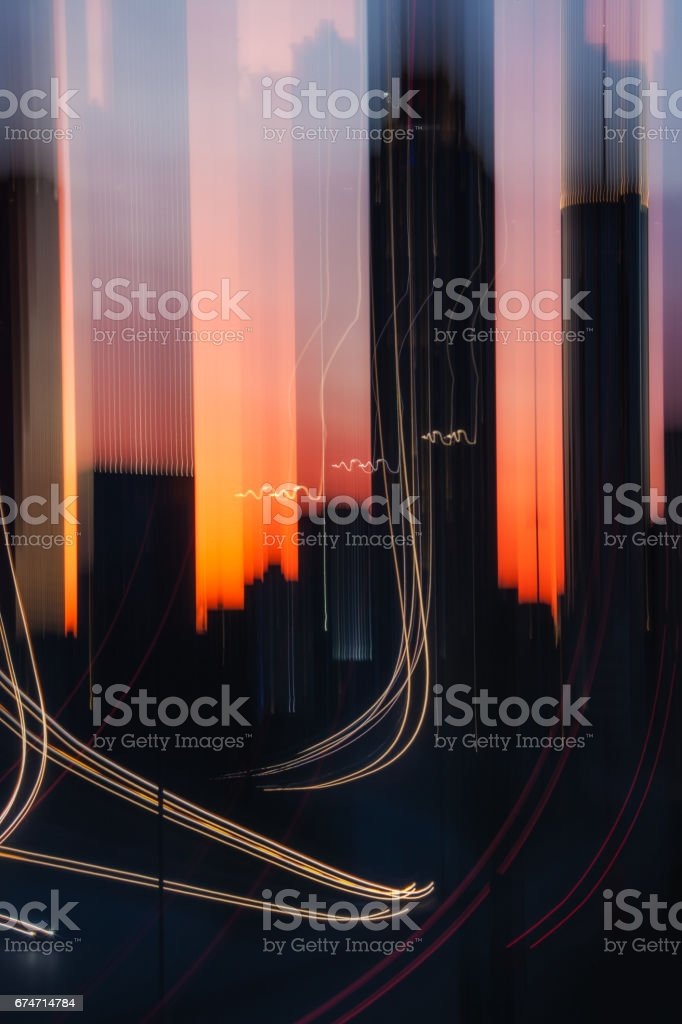city abstract stock photo