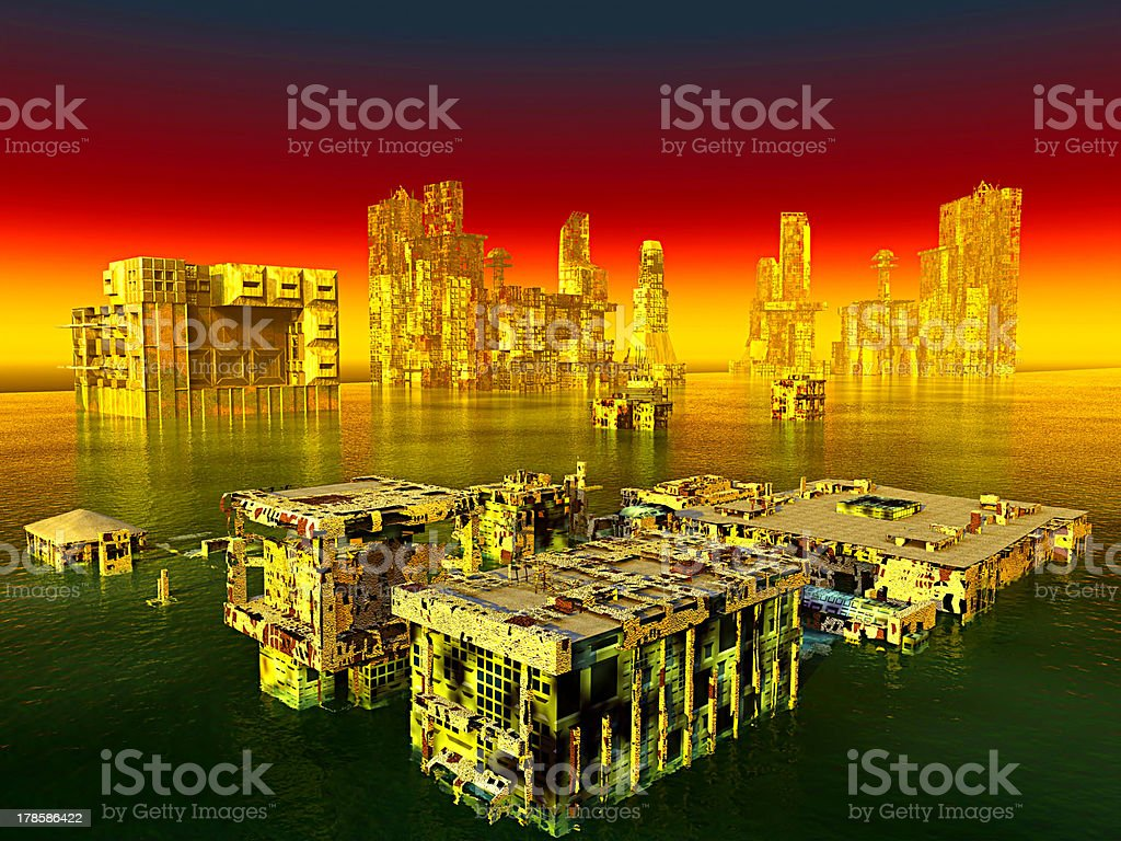 City after war royalty-free stock photo