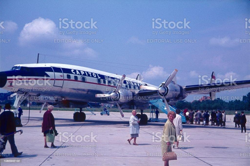 City Airport Tegel, airfield, Berlin West stock photo