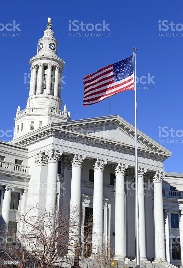 City and County Building, Denver, Colorado stock photo