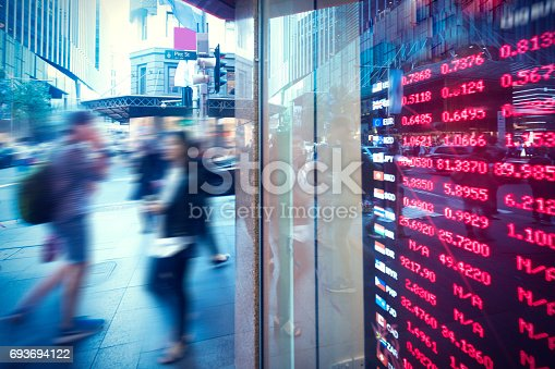 Sydney, Australia, the city center of the bank exchange rate plate