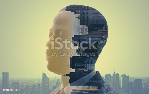 994786356 istock photo City and human concept. AI (Artificial Intelligence). 1204561001
